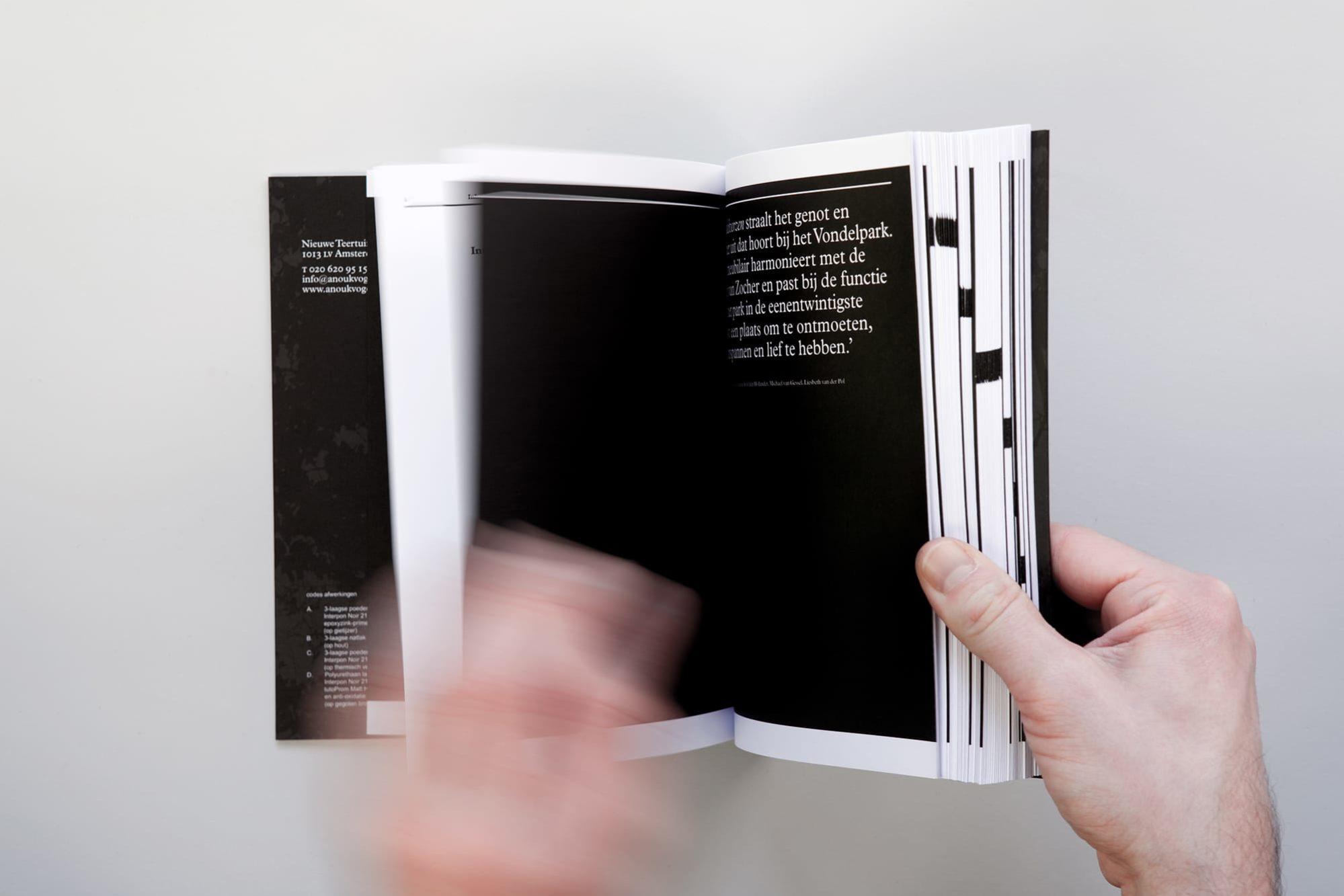 Haller Brun Vondelverzen process book Anouk Vogel Johan Selbing Vondelpark Amsterdam furniture