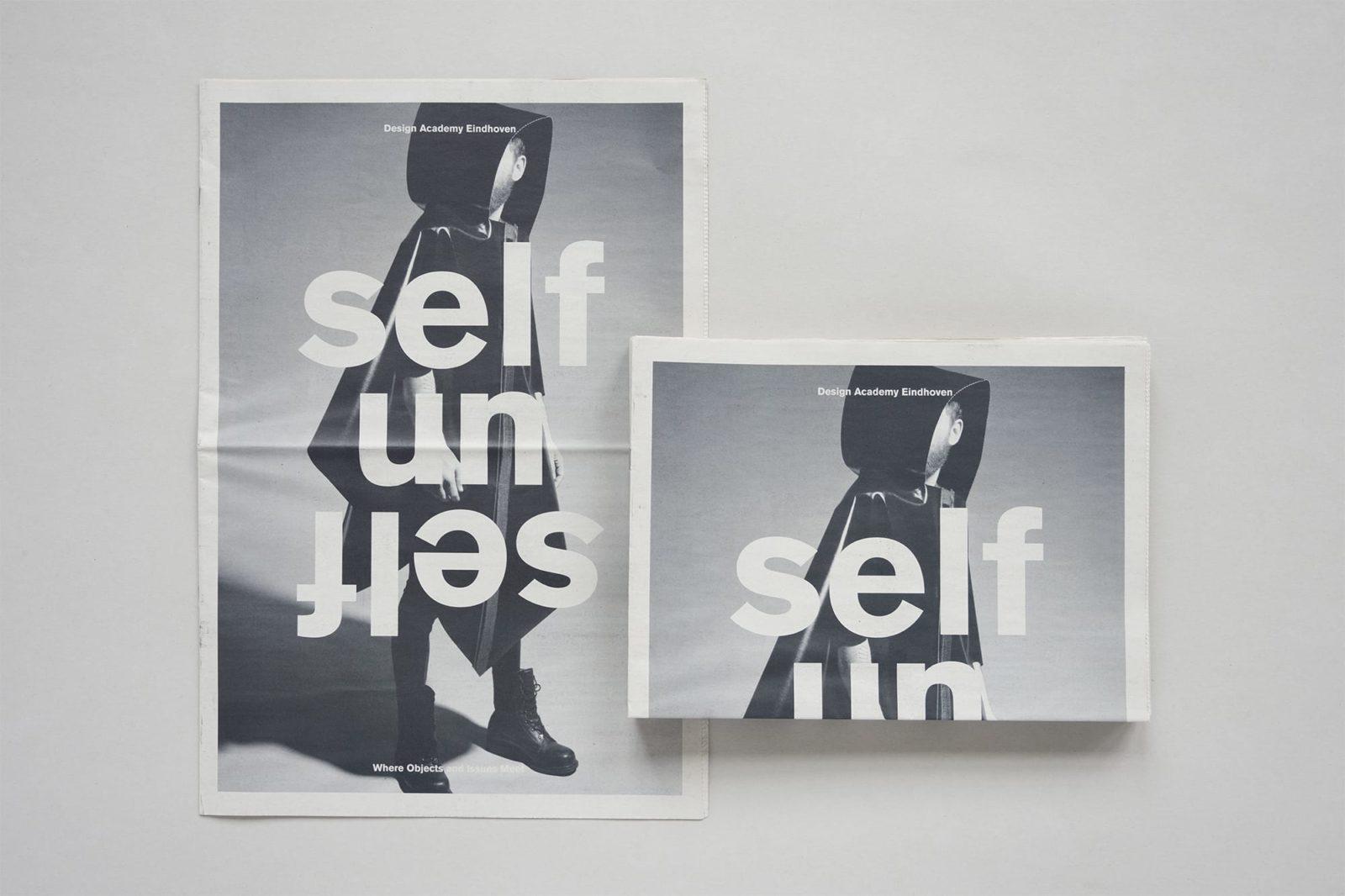 Haller Brun Design Academy Eindhoven Salone del Mobile Milano 2013 Self Unself visual identity newspaper banner