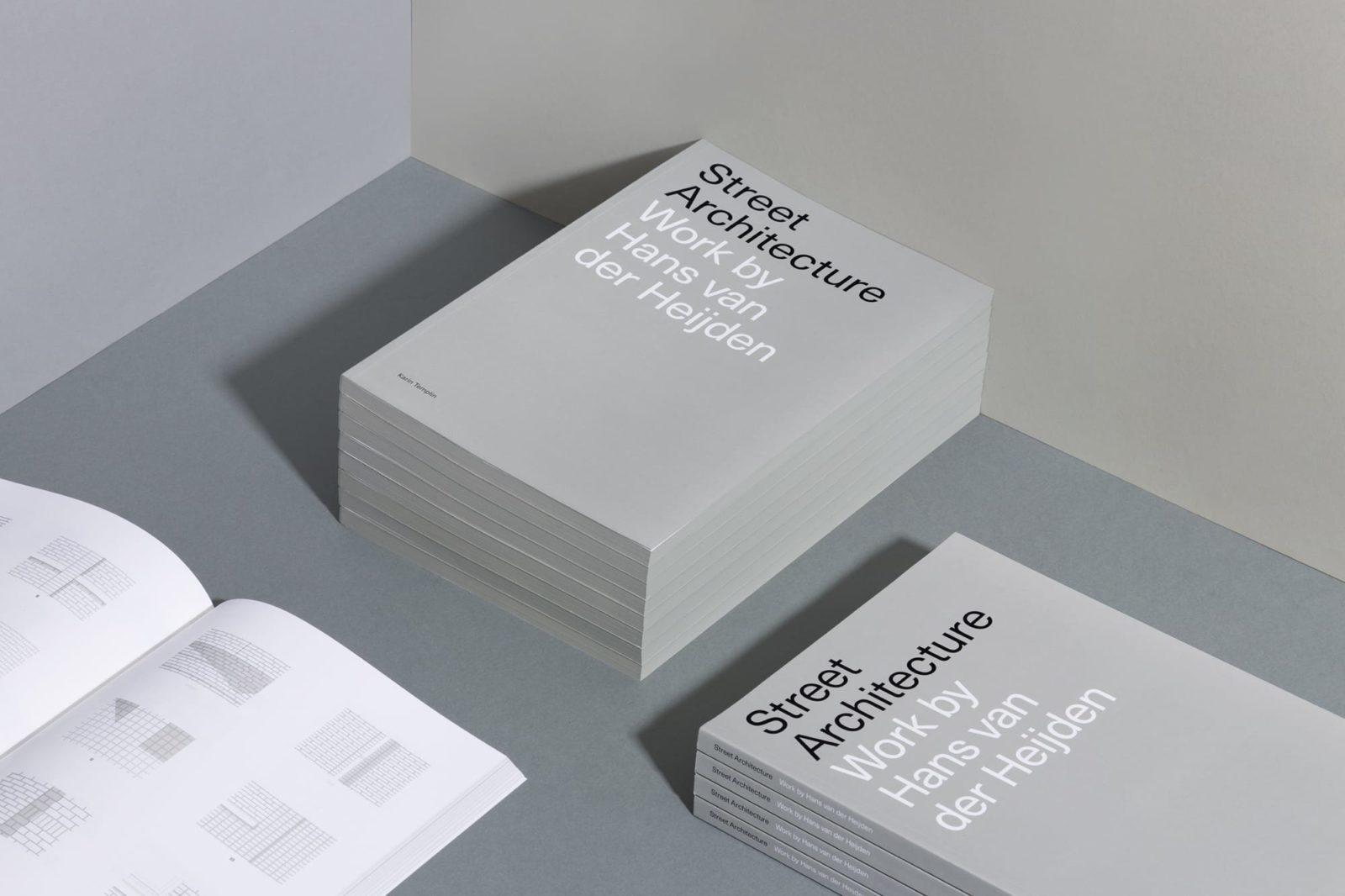 Haller Brun Hans van der Heijden Architect Street Architecture book architectural drawings duotone extra grey