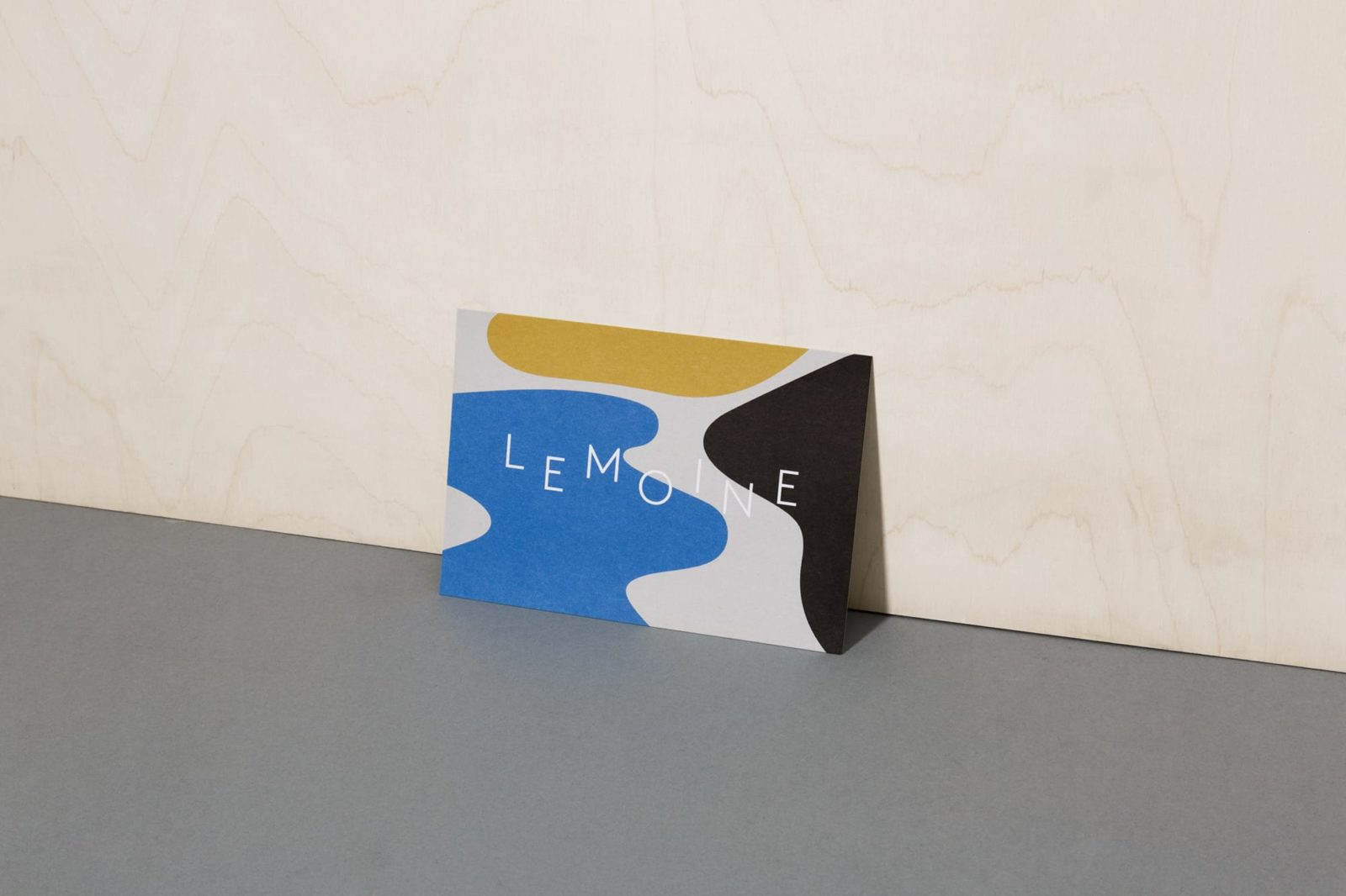 Haller Brun Le Moine Café Bistro visual identity postcard