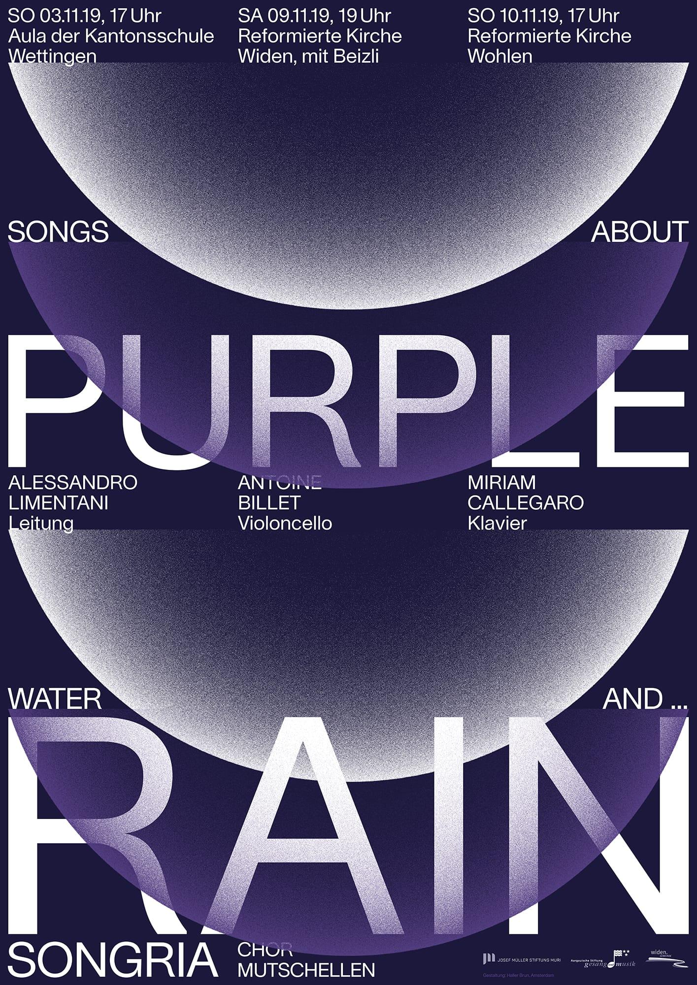 Purple Rain poster design Songria Haller Brun