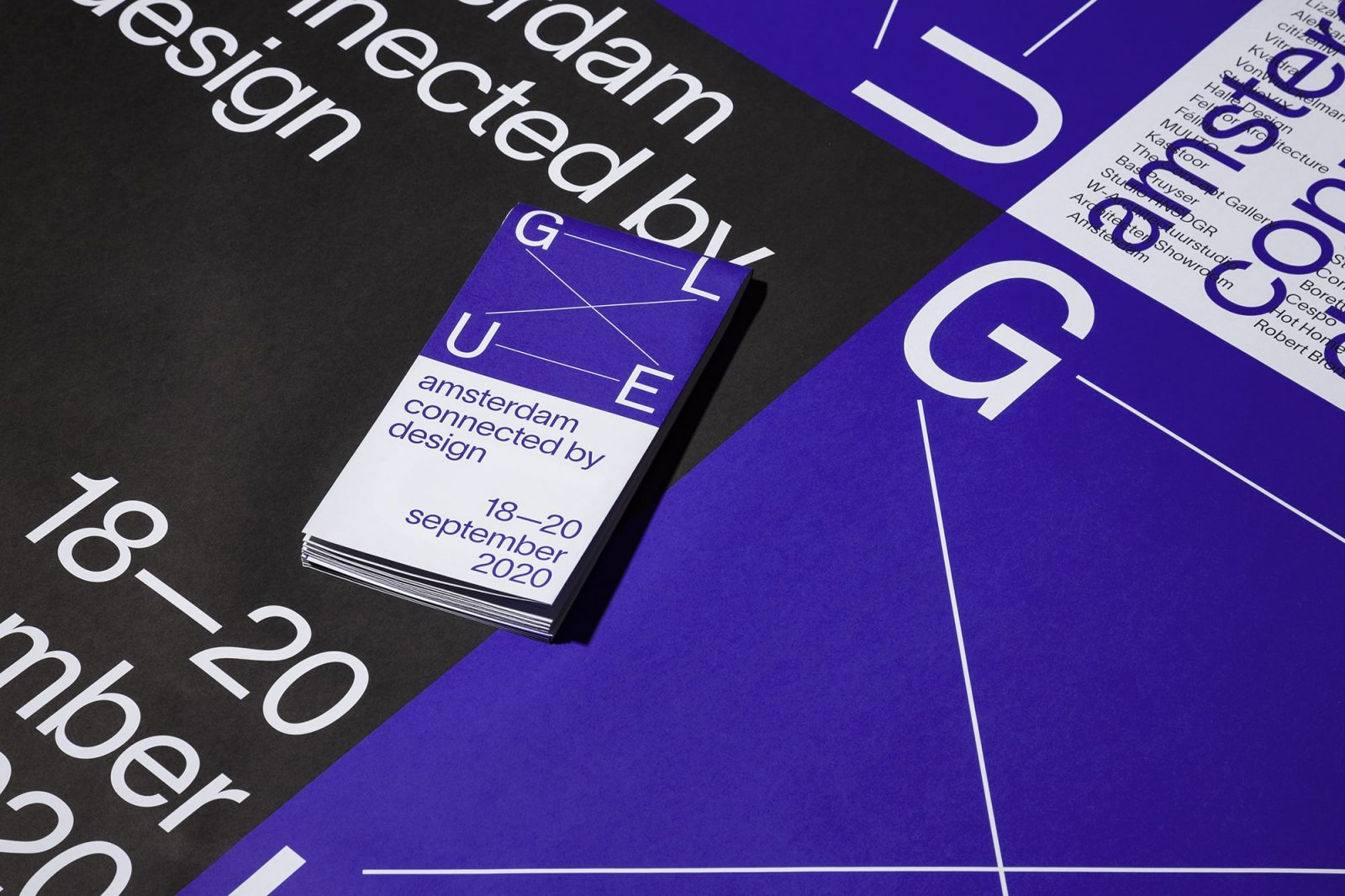 GLUE Amsterdam connected by design festival visual identity
