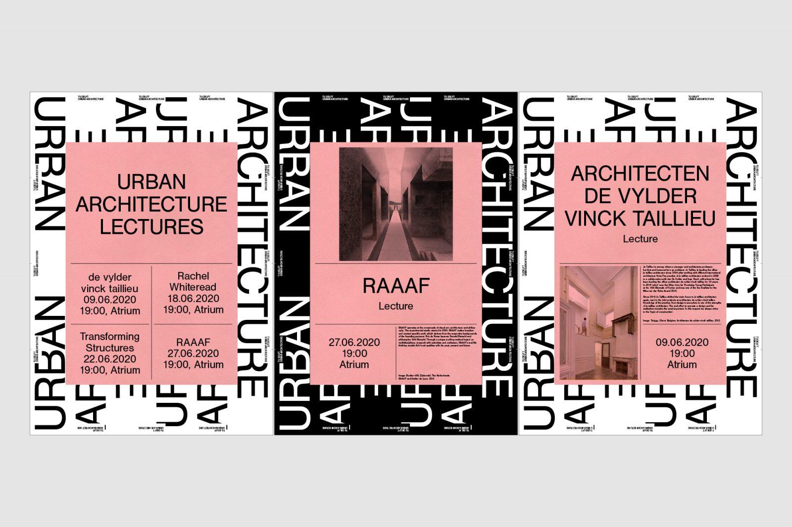 Visual identity TU Delft Urban Architecture Poster design